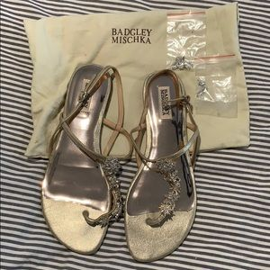 Badgley Mischka Sandals with Rhinestones